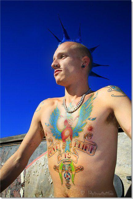 панк татуировка