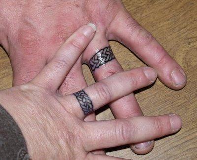 татуировка в виде обручальных колец