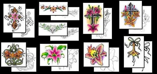 растения в татуировках